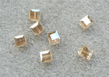 36 SWAROVSKI CRYSTAL - GOLDEN SHADOW  6mm Loose BEADS 5601 CUBES, Bridal/Wedding