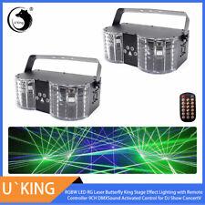 2PCS U`King LED Laser Bühnenbeleuchtung RGBW DMX Remote Disco Party Club Licht