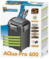 Superfish Aqua Pro External Fish Tank Filter Aquarium Canister Filter & Media
