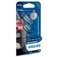 T10 / W5W 12V PHILIPS WHITE VISION HALOGEN GLOBE