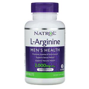 Natrol L-Arginine 3000 mg 90 Tablets Egg-Free, Fish Free, Milk-Free, No