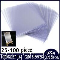 """25-100X of Regular Toploader 3X4 """"Card Sleeve Magic Yugioh  Card Sleeves"""
