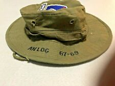 U.S. original Vietnam hat from 173abn airborne patch & an log 67-69 embroidered