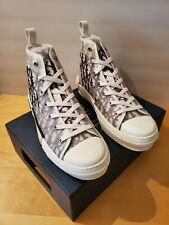 Dior B23 White High Top Oblique Sneakers New with Box Eur 43 US 10