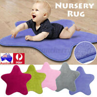 Nursery Rug Baby Kids Soft Star Super Fabric Play Mat Floor Blanket 70x70c
