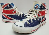 Chuck Taylor Converse The Who Men's High Top Shoes British Flag Size 4 Women's 6