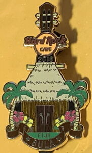"Hard Rock Cafe FIJI 2016 ""Bula"" Bure Hut Palms Guitar PIN - LE 100! - HRC #92344"