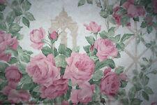 "Sanderson Rose Arbour vintage curtains 50""d x 51""w pink roses"