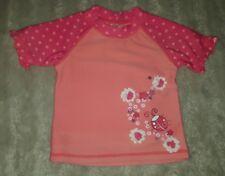 BABY GIRLS Sz 00 pink TARGET floral swimming top CUTE! LADYBUG!