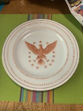 """Ethan Allen Phoenix American Traditional Interiors 9"""" Round Plate Eagle Star :"""