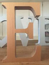Copper Wooden Letter E, 13cm Large Letter E, Copper E, Initial E