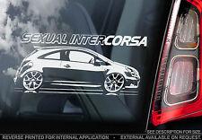 Vauxhall Corsa-Pegatina De Coche - 'sexual intercorsa' - foro propietarios Club VXR C D Reino Unido