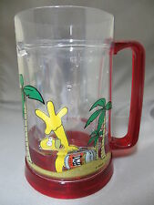 Homer Simpson Island Duff Beer Floating Insulated Cup Stein Glass Plastic