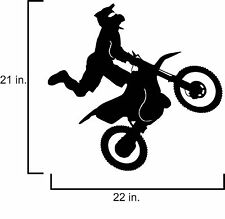 Motor Cross bike jump  wall vinyl decal