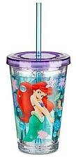 Disney Store The Little Mermaid Ariel Tumbler with Straw Cup