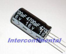 condensador Elko axial f/&t 4700uf 16v 16x39mm New #bp 2 PCs