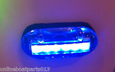 "BLUE UNDERWATER LED BOAT LIGHT 4 INCLUDED 3.5""X1.5"" 600 LUMENS"