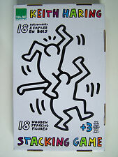 KEITH HARING - STACKING GAME - 18 PERSONNAGES A EMPILER EN BOIS - VILAC - NEUF -