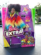 Barbie Extra Doll 2020 Rainbow Coat Pet Poodle New Aa