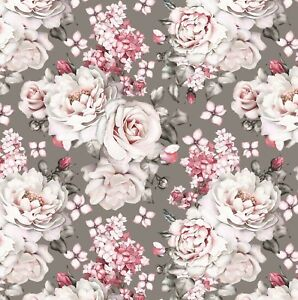 Mothers Day Wrapping Paper,Grey And Pink Roses Stunning Wrapping Paper