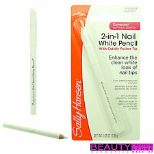 SALLY HANSEN 2-in-1 Nail White Pencil With Cuticle Pusher Tip Z2257 SH046