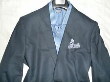 APT 9 Men's Navy Two Button (Stretch) Wool/Wool Blend Slim-Fit Suit- 46R 32Wx32