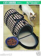 Cat Carrier ~  plastic canvas pattern,  Annie's International