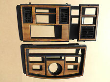 1980-1985 Cadillac Eldorado woodgrain instrument cluster dash switch bezel set