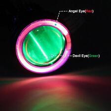 Motorcycle BI-XENON HID Angel Eye Devil Eye Headlight Projector Lens for Harley