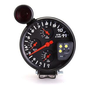 UKNEST 5 Inch 4in1 Oil Press & Water Temp & Oil Temp & Tachometer Gauge Meter
