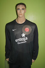 Nike Mainz 05 Torwart Trikot Jersey Maillot Gr XL schwarz gepolsterte Ellenbogen