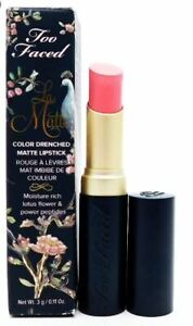 AS IF - Too Faced La Matte Color Drenched Lipstick - Full Size - New in Box