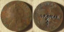 "Great Britain:1775 1/2 Penny Counterstamped ""Arshar"" Arshar Izmirov? Ir7757"