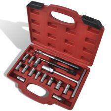 vidaXL 17 pcs Diesel Injector Seat Cutter Set Garage Car Vehicle Hand Tool