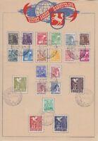 Alliierte Besetzung Mi Nr 943 - 962 aut tollem Gedenkblatt mit SST Hannover 1948