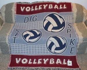 New NWT Volleyball Blanket Spike Net Beach Sports White Girls Mens Team Gift NIP