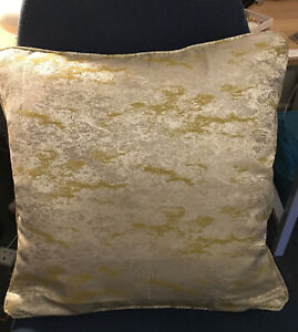 """REDUCED Ashley Wilde Birnam Gold Fabric 17""""D/ Sided Cushion Cover Piped quality"""