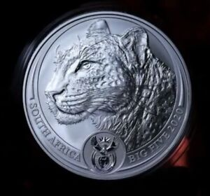 2020 LEOPARD SOUTH AFRICA BIG FIVE 1 OZ SILVER COIN BU