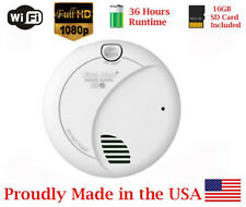AES 1080P 36Hr Battery Powered WIFI Wireless Smoke Detector Spy Camera Nanny Cam