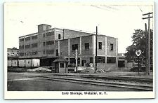 Postcard NY Webster Cold Storage Building Pre 1930's R35