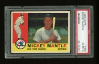 1960 Topps #350 Mickey Mantle - HOF - Yankees - PSA 6 - EX-MT - 08119232 - (SCA)