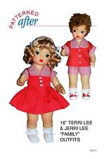 "Family Suits Clothing Pattern - 16"" Terri & Jeerri Lee Doll"