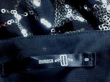 MIMOSA BlackNetSilverSequinPartySize8NWoT