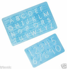 Alphabet Letter & Number Stencil Hand Lettering Scrapbook Educational kids Tool