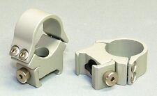 Keylock Rings Silver Pair - Fit Weaver or Picatinny Bases
