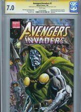 Dr. DOOM Sketch cover art by DAN BRERETON CGC SS 7.0 Marvel Avengers FF