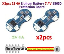 2pcs 2S 4A 7.4V Li-ion Lithium 18650 BMS PCM Battery Protection Board