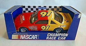 NASCAR Davey Allison #91 Plastic Ford Thunderbird Talladega Speedway Race Car