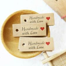 Kraft Paper Handmade With Love Gift Tags Rustic Wedding Favor Tag Label