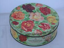 Vintage Peek Frean Biscuit Tin Rose Flower Design Collectors C1